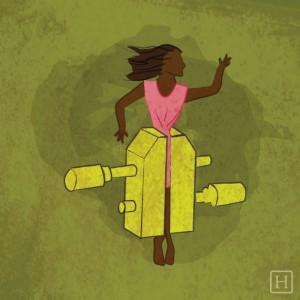 """""""Se siente como si las paredes se cerraran. Un tornillo de presión sobre mi cuerpo """" — Carol Smitherman-Marques (vía Facebook)"""