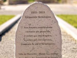 Memorial del Genocidio en Marsella, Francia, uno de los países que reconocen la matanza.