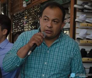 Gabino Cano, líder de locatarios del Mercado Hidalgo.