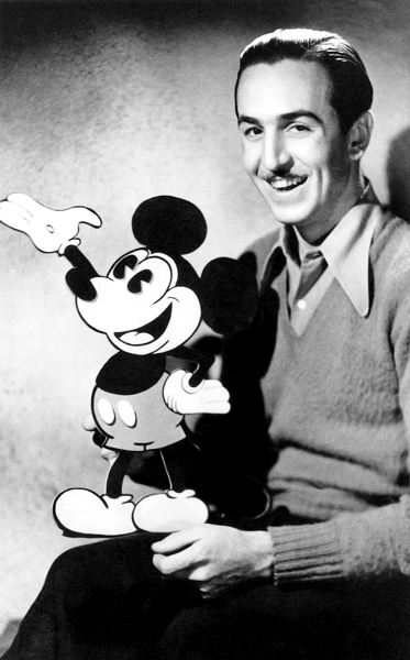 WALT DISNEY, MICKEY MOUSE -- Pictured: (l-r) Mickey Mouse, Walk Disney as Himself -- Photo by: NBCU Photo Bank