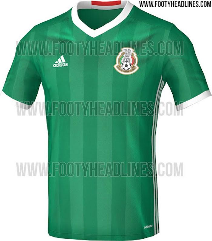 Ciudad de México (27 de febrero de 2016).- Todo indica que el color verde  volverá a predominar en el uniforme de la Selección Mexicana de futbol f41634f3fed36