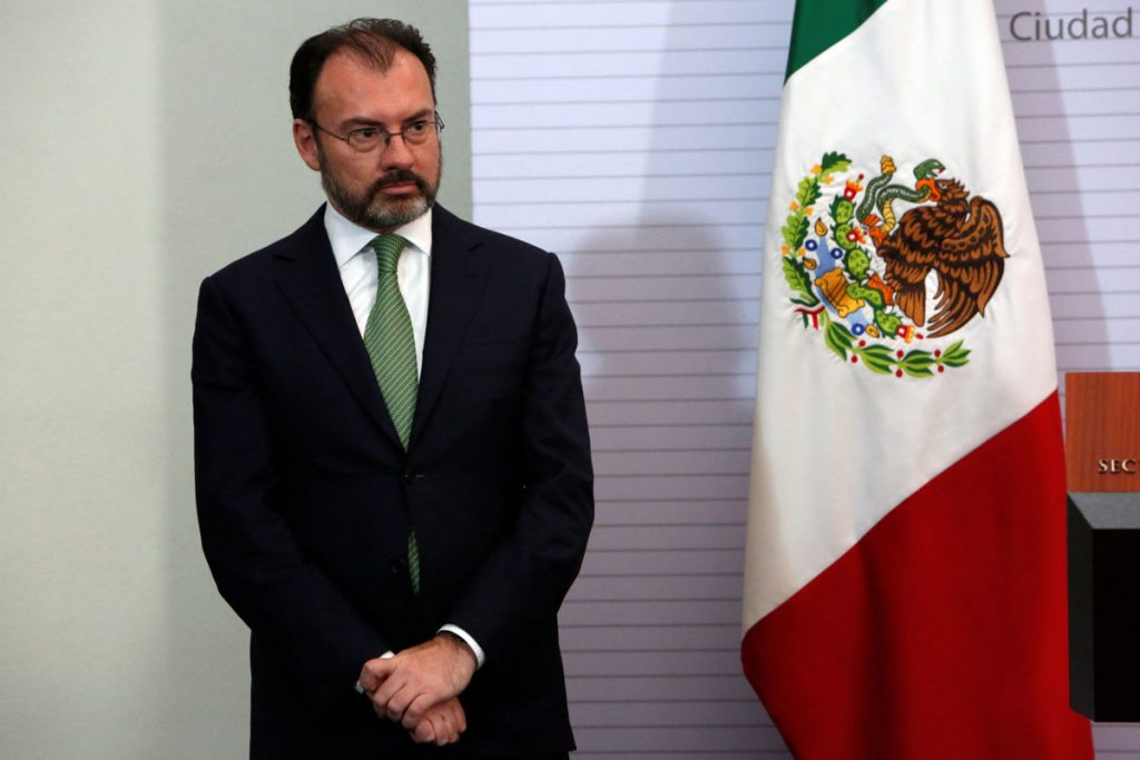 Newly appointed Mexico's Foreign Minister Luis Videgaray looks on before addressing the media  in Mexico City, Mexico, January 4, 2017. REUTERS/Ginnette Riquelme