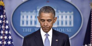 President Barack Obama pauses while speaking in the Brady Press Briefing Room at the White House in Washington, Thursday, April 23, 2015. The president took full responsibility for deaths of American, Italian hostages, expresses apologies. (AP Photo/Susan Walsh)